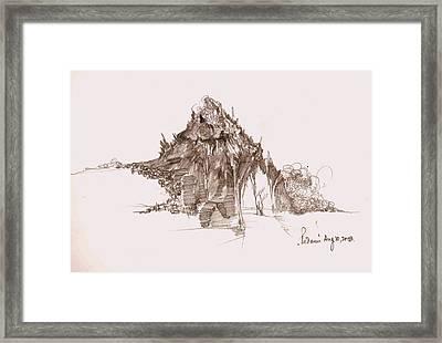 Rocks And Stones Framed Print by Padamvir Singh