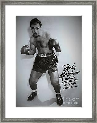 Rocky Marciano Framed Print by Dennis ONeil