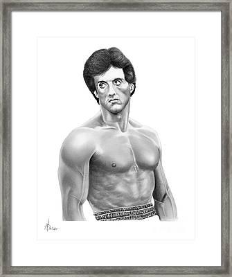 Rocky-sylvester Stallone Framed Print