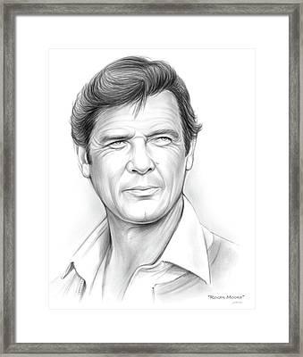Roger Moore Framed Print