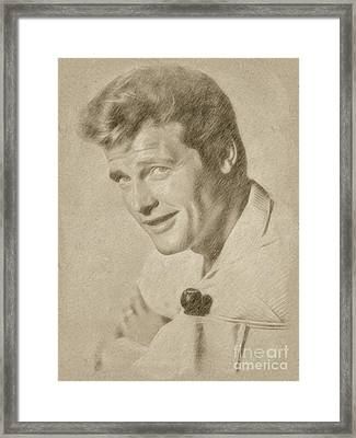 Roger Moore Hollywood Actor Framed Print by Frank Falcon
