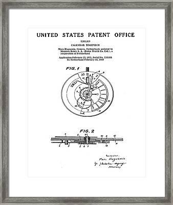 Rolex Watch Patent 1999 Framed Print