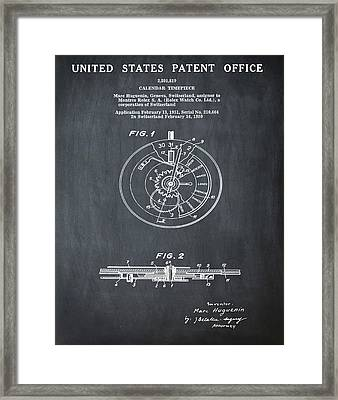 Rolex Watch Patent 1999 In Chalk Framed Print by Bill Cannon