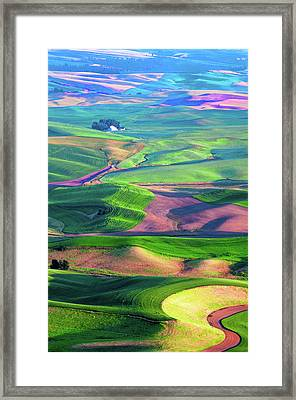 Green Hills Of The Palouse Framed Print by James Hammond
