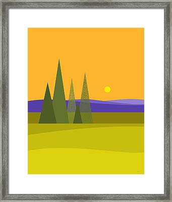 Rolling Hills Framed Print by Val Arie