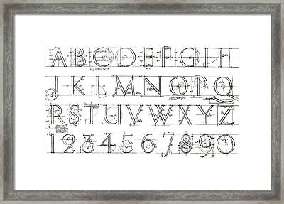Roman Lettering From The Trajan Column Framed Print by English School