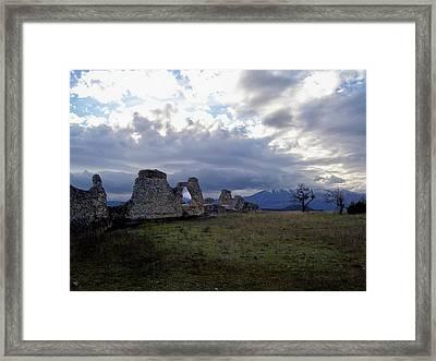 Roman Ruins Framed Print by Judy Kirouac