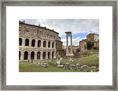 Rome - Theatre Of Marcellus Framed Print by Joana Kruse