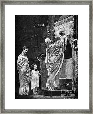 Rome: Christian Widow Framed Print by Granger