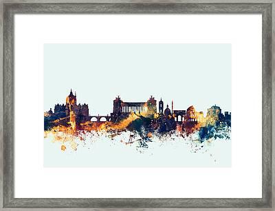 Rome Italy Skyline Framed Print