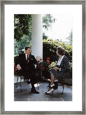 Ronald Reagan. President Reagan Framed Print by Everett