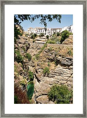 Ronda Famous Village In Spain Framed Print by Angelo D'Amico