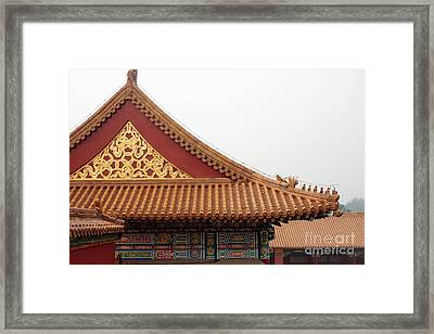 Roof Forbidden City Beijing China Framed Print