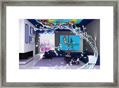Rooftop Saltwater Fish Tank Art Framed Print by Marvin Blaine