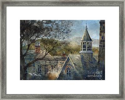 Rooftops Of Old Edwards Framed Print