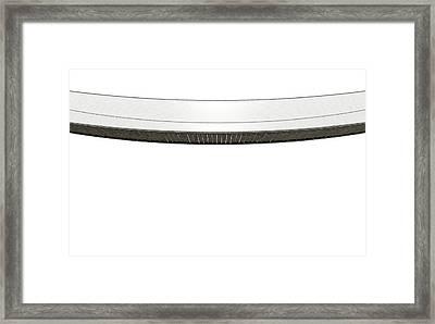 Rope Bridge On White Framed Print by Allan Swart