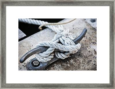 Rope On Cleat Framed Print