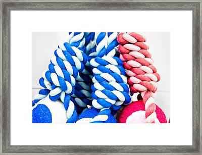 Rope Toys Framed Print