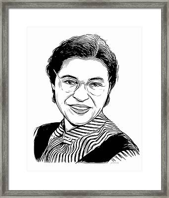 Rosa Parks Framed Print by Greg Joens