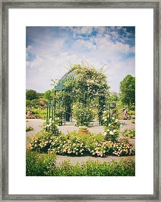 Rose Garden Gazebo Framed Print by Jessica Jenney