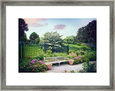 Rose Garden Respite Framed Print by Jessica Jenney