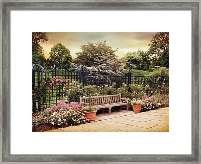 Rose Garden Trellis Framed Print