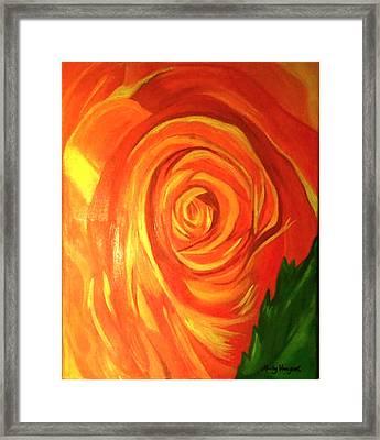 Rose Framed Print by Misty VanPool