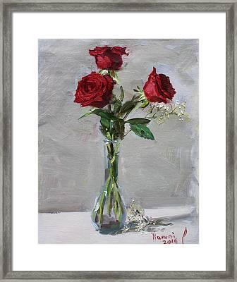 Roses For Viola Framed Print