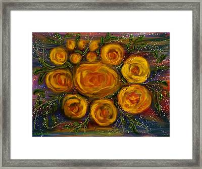 Roses Framed Print by June Pressly