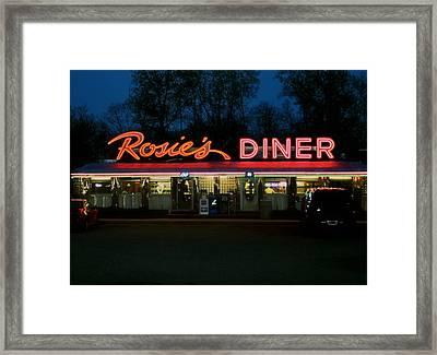 Rosie's Diner Framed Print by Odd Jeppesen