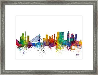 Rotterdam The Netherlands Skyline Framed Print