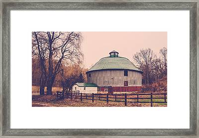 Framed Print featuring the photograph Round Barn by Dan Traun