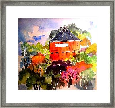 Round Barn ,santa Rosa Framed Print