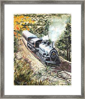 Framed Print featuring the painting Round The Bend by Karen Ilari