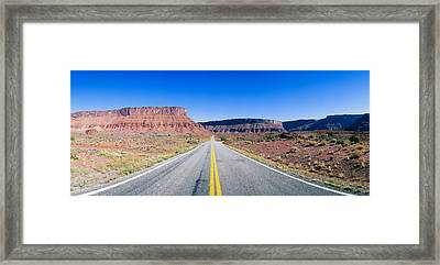 Route 128, Colorado River, View Framed Print by Panoramic Images