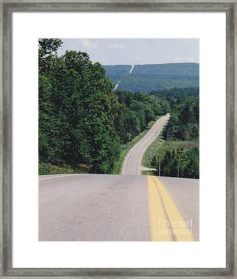 Route 6 Framed Print by Lewis Lowell
