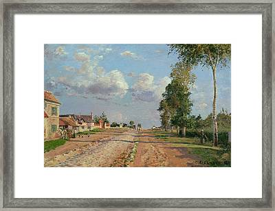 Route De Versailles Rocquencourt Framed Print by Camille Pissarro