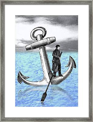 Rowing Anchor Framed Print