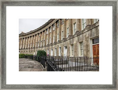 Royal Crescent In Bath Framed Print by Patricia Hofmeester