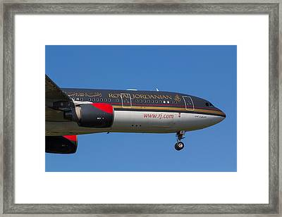 Royal Jordanian Airlines Airbus A330 Framed Print