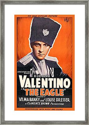 Rudolph Valentino In The Eagle 1925 Framed Print