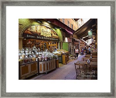 Rue Pairoliere In Nice Framed Print by Elena Elisseeva