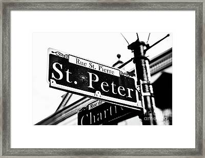 Rue St. Pierre Framed Print