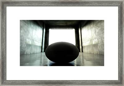 Rugby Ball Sports Stadium Tunnel Framed Print