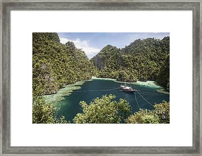 Rugged Limestone Islands Frame An Framed Print