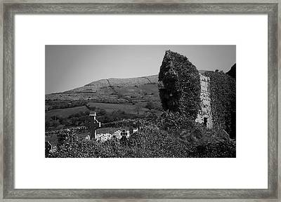 Ruins In The Burren County Clare Ireland Framed Print by Teresa Mucha