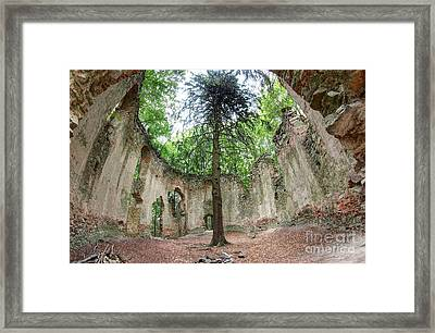 Ruins Of The Baroque Chapel Of Saint Mary Magdalene Framed Print by Michal Boubin