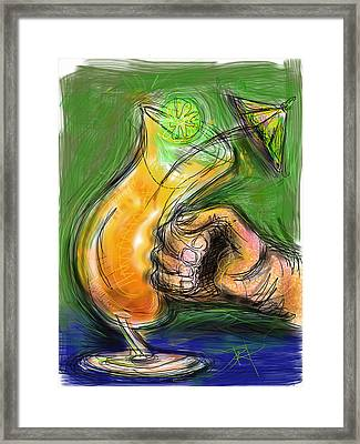 Rum Punch Framed Print by Russell Pierce