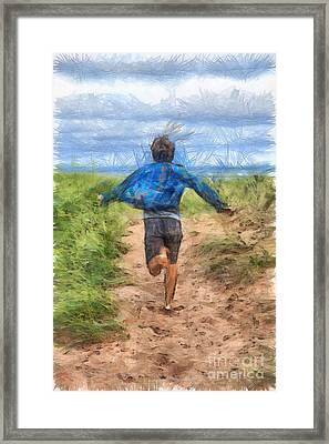 Running Free Framed Print by Edward Fielding