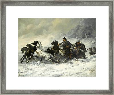 Running From The Wolves Framed Print by MotionAge Designs